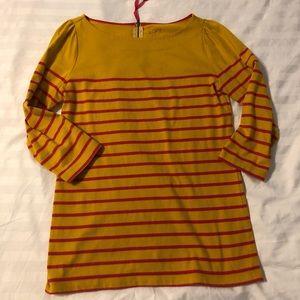 Mustard yellow striped Loft long sleeve shirt